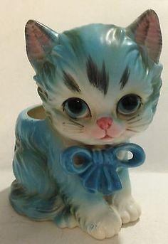 Vintage Lefton Ceramic Kitty PLANTER - Japan