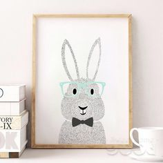 Unframed Rabbit Canvas Art Print – Color Home Happy -Accessories for a happy modern home