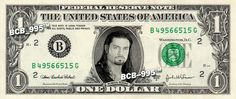 Roman Reigns on REAL Dollar Bill - Collectible Celebrity Cash Money - WWE