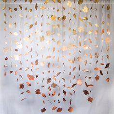 Caída de hojas Garland: metálico por KMHallbergDesign en Etsy