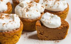 Pumpkin Pie Cupcakes Recipe Desserts with pumpkin, sugar, brown sugar, egg beaters, vanilla, evaporated milk, flour, pumpkin pie spice, salt, baking powder, baking soda, cool whip