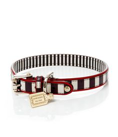 henri bendel stripe dog collar - dog gear - designer dog care equipment