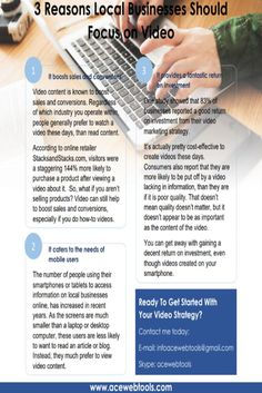 See this infosheet about 3 Reasons Local Businesses Should Focus on Video and enjoy :)