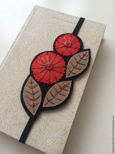 Закладка для книг из фетра Веточка на день Святого Валентина - ярко-красный