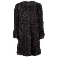 METEO BY YVES SALOMON fur coat ($2,315) ❤ liked on Polyvore