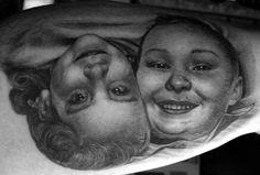 Chris Garver - Double Portrait #tattoo Chris Garver Tattoo, Portrait, Tattoos, Tatuajes, Headshot Photography, Tattoo, Portrait Paintings, Drawings, Portraits