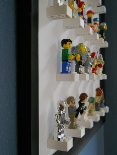 Lego minifigure display I can make this!!! kids-are-cute                                                                                                                                                     Mais
