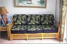 Sofa Cushions? -- Tiki Central Cushions On Sofa, Couch, Bamboo Sofa, Furniture, Home Decor, Settee, Decoration Home, Sofa, Room Decor