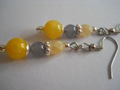 Renaissance Sunshine Yellow Earrings by chicagolandia
