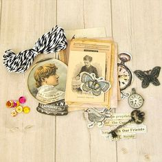 Add a touch of vintage whimsy to your next paper crafting project with @primamarketing's Epiphany Journaling Ephemera.