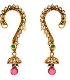 Buy Green,pink gold plated diamond ear cuffs ear-cuff online