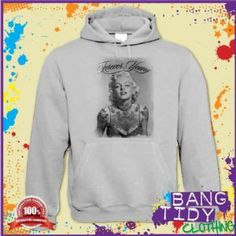 Marilyn Monroe Forever Young Tattoo Some Like it Hot movie Mens Hoodie  Our Price: £19.97