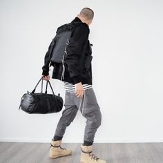 Escape Vest, NDG Laced Mariniere, NDG Cargo Biker Pants, NDG  Duffle Bag, Don't Tell New York