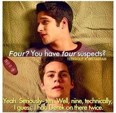 It's pretty obvious stiles loves Derek he had the nerve to put his name twice