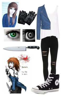 """Creepypasta-Clockwork"" by culleen9300 ❤ liked on Polyvore featuring Converse, rag & bone, IRO and Coltellerie Berti"