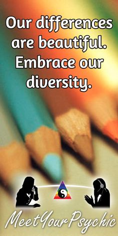 Our differences are beautiful. Embrace our diversity. Psychic Phone Reading 18779877792 #psychic #love #follow #nature #beautiful #meetyourpsychic https://meetyourpsychic.com/welcome1