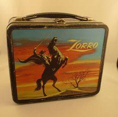 1958 Zorro Metal Lunch Box