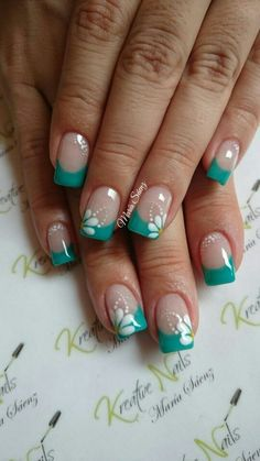 French Manicure Nails, French Tip Nails, Diy Nails, French Tip Nail Designs, Nail Art Designs, Toe Nail Art, Cute Acrylic Nails, Fingernail Designs, Beach Nails