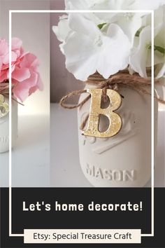 Mason Jar Personalized / Mason Jar Centerpieces / Wood Crate / Dried Flower Arrangement Hydrangea / #allthingsfarmhouse  #selfcare #bathroomdecor #farmhouse #farmhousedecor #homedecor  #homedesign #dressingtable #modernfarmhouse #cozyhome #home  #homesweethome #diy #diyhomedecor #instagood #instahome #shabbychic  #cottage #cottagestyle #stayhome #masonjar #comingsoon #storage #bhghome  #masonjardecor Mason Jar Personalized Mason Jars, Personalized Wedding Gifts, First Home Gifts, Mason Jar Wall Sconce, Groom And Groomsmen Attire, Wedding Gifts For Couples, Mason Jar Centerpieces, Aesthetic Room Decor, Wood Crates