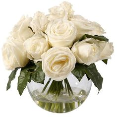 I pinned this Faux Rose Arrangement II in White from the French Country Accents event at Joss and Main!