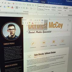 100% Editable with Microsoft Word #Resume #Template  https://www.instagram.com/p/BQ30wNYFrIS/