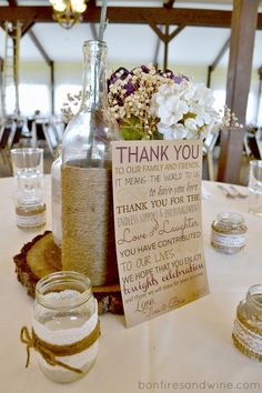 Bonfires and Wine: Thank You Card for Wedding Reception {Free Printable}