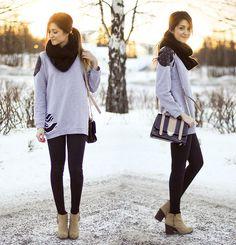 Torstai (by Maria  L.) http://lookbook.nu/look/4686711-Torstai-Sweater-Bag-Shoes
