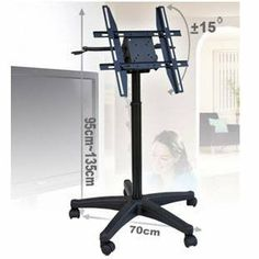 LCD Plasma TV Portable Wheeled Trolley Stand