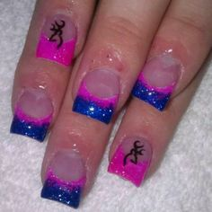 minus the Browning symbol Fancy Nails, Love Nails, Pretty Nails, Country Girl Nails, Hunting Nails, Camo Nails, Deer Nails, Solar Nails, Nails Only