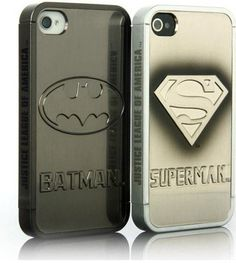 Batman and Superman Case for iphone 4 4s. €7,50, $9.54, via Etsy.