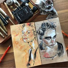 "2,921 Me gusta, 7 comentarios - ArteVM (@artevm) en Instagram: ""Wow! Art by @beyelerdominic ➖➖➖➖➖➖➖➖➖➖➖➖➖➖➖➖➖➖➖➖➖ #drawing #portraits #sketch #watercolor…"""