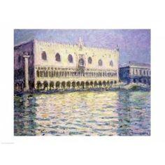 The Ducal Palace Venice 1908 Canvas Art - Claude Monet (24 x 18)