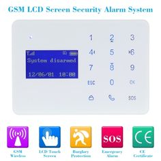 49.29$  Buy here  - Wireless 433MHZ GSM LCD Screen SMS Home Burglar Security Alarm System PIR Detector Sensor Kit Remote Control Android IOS