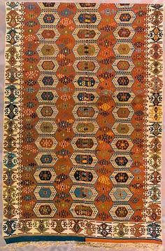 Kilim, 19th Century, Hatay, Reyhanli Weaving Textiles, Kilims, Quilt Bedding, Weaving Techniques, Rugs In Living Room, Rugs On Carpet, Fiber Art, 19th Century, Pattern Design