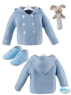 Abrigo de lana con capucha y botitas de nobuk con puntera perforada de Navidad  SONAJERO O MORDEDOR DE REGALO!!!!