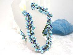 Turquoise Blue Freshwater Pearl Beadwork by SparklePlentyToo, $99.99
