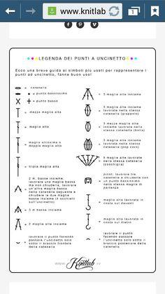 Legenda simboli uncinetto Lego, Hobbies, Notebook, Bullet Journal, Knitting, Diy, Ideas, Scoubidou, Chart