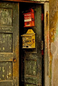 Two of my favorite things Old #Doors and #Postbox. From #Calcutta #india