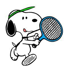 Snoopy Knows that Concentration is Paramount in Tennis