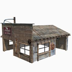 "Overview of the ""Old Garage"" model that's now available - a retro wooden vehicle repair garage/autoshop. You can obtain the model yourself from here: http://www.turbosquid.com/Search/Artists/MonkeyBum?referral=MonkeyBum"