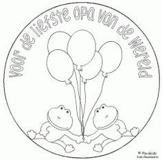 kleurplaat verjaardag opa 75 kidkleurplaat nl