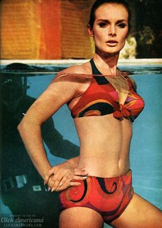 8 snazzy swimsuits of the sixties The young lioness swimsuits Brave. Don't you want to be a young lioness this summer? Vintage Bathing Suits, Vintage Swimsuits, Mode Vintage, Vintage Ladies, Vintage Style, 60s Style, Surf Style, Vintage Outfits, Vintage Fashion