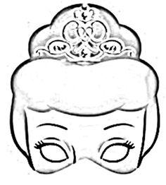 Mascaras de princesas para imprimir pintar y recortar  DIY