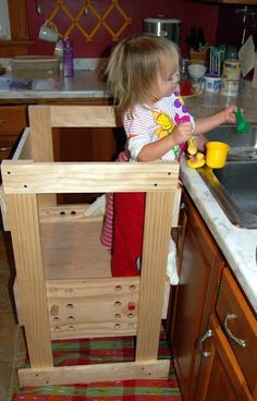Now this is the kind of hardcore DIY spirit that warms our heart. Like many of us, Ohdeedoh reader eatfruit coveted the Learning Tower, but the price tag made it off limits. So instead, she got her erstwhile husband onboard with the idea of making one. (This is, in fact, our favorite kind of DIY project: the kind that lets our partner do most of the work.) See another photo and get eatfruit's take on the project after the jump...
