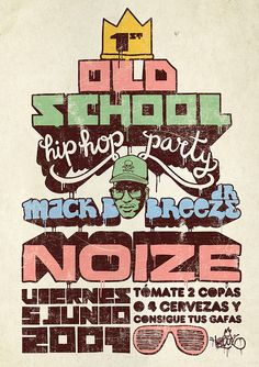 hip hop poster old school hip hop party by - Hip Hop Party, Techno Style, Style Hip Hop, 80s Hip Hop, Arte Hip Hop, 90s Party Outfit, 90s Outfit, Hip Hop Fashion, Urban Fashion
