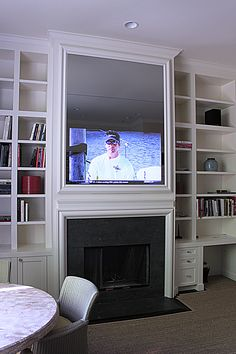 Large TV Mirror with mill work frame