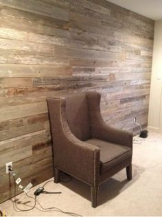 Barn Board Wall Into Library From Reception