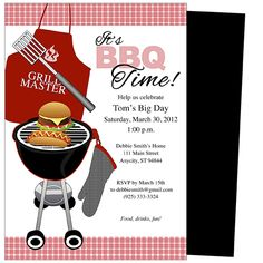 Bbq, online invitations & cards by pingg. Com.