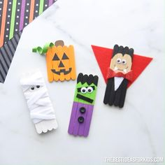 Halloween Popsicle Stick Crafts - fun popsicle stick crafts for Halloween!