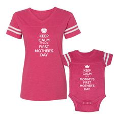 We Match Keep Calm It's My & Mommy's First by wematchclothing